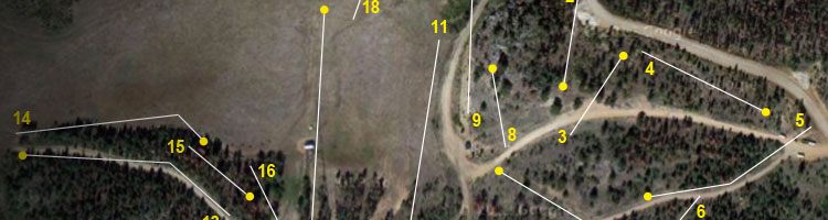 image of a course map illustrating a disc golf course design installation