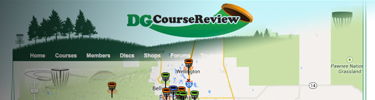 graphic of disc golf course maps